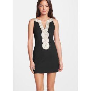 NWT Lilly Pulitzer Valli Shift Dress - Black Sz 2